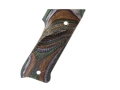 Product detail of Hogue Fancy Hardwood Grips Ruger Mark II with Left Hand Thumbrest Checkered Lamo Camo