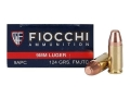 Product detail of Fiocchi Shooting Dynamics Ammunition 9mm Luger 124 Grain Full Metal Jacket Truncated Cone Box of 50