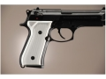 Hogue Extreme Series Grip Beretta 92F, 92FS, 92SB, 96, M9 Checkered Brushed Aluminum Gloss Clear
