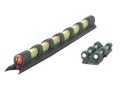 TRUGLO Gobble Dot Turkey Sight Set Universal Fits Shotgun with Vent Rib Fiber Optic Dual Color Red/Green Front, Green Notched Rear