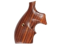 Hogue Bantam Grips with Top Finger Groove S&W K, L-Frame Round Butt Cocobolo