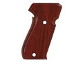 Product detail of Hogue Fancy Hardwood Grips Sig Sauer P220 Side Magazine Release Checkered Cocobolo