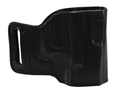 DeSantis E-GAT Outside the Waistband Slide Holster Right Hand Glock 9mm, 40 S&amp;W Leather Black