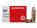 Sellier & Bellot Ammunition 38 Special 158 Grain Semi-Jacketed Soft Point Box of 50