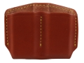 Gould & Goodrich Double Magazine Pouch Single Stack Magazines Leather Brown