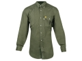 "Beretta Shooting Shirt Long Sleeve Cotton Poplin Rifle Green 2XL (50"" to 52"")"