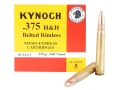 Kynoch Ammunition 375 H&amp;H Magnum 235 Grain Woodleigh Weldcore Soft Point Box of 5