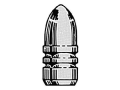 Saeco 1-Cavity Magnum Bullet Mold #254 30 Caliber (309 Diameter) 115 Grain Round Nose Bevel Base