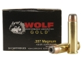 Product detail of Wolf Gold Ammunition 357 Magnum 158 Grain Semi-Jacketed Hollow Point Box of 50