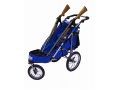 Rugged Gear Standard Two Gun Shooting Cart with Swivel Front Wheel Blue with Flat Free Tires