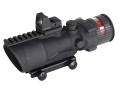 Product detail of Trijicon ACOG TA648-RMR BAC Rifle Scope 6x 48mm Dual-Illuminated Red Chevron 223 Remington Reticle with 6.5 MOA RMR Red Dot Sight and TA75 Flattop Mount Matte