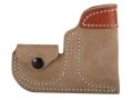 DeSantis Pocket Pug Holster Ambidextrous North American Arms Pug 22 Leather Brown