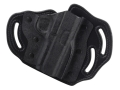 DeSantis Intimidator Outside the Waistband Holster Right Hand 1911 Officer, Defender, EMP, Ultra Kydex and Leather Black