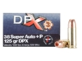 Cor-Bon DPX Ammunition 38 Super +P 125 Grain Barnes XPB Hollow Point Lead-Free Box of 20