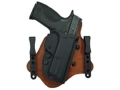 Comp-Tac Minotaur MTAC Inside the Waistband Holster Right Hand Glock 19, 23, 32 Kydex and Leather Black/Tan