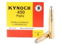 Product detail of Kynoch Ammunition 450 Rigby Rimless 480 Grain Woodleigh Welded Core Soft Point Box of 5