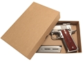 "Cylinder & Slide Gun Storage Box Hard Pistol Case 9"" Tan"