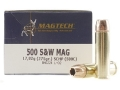 Magtech Hunting Ammunition 500 S&W Magnum 275 Grain Solid Copper Hollow Point Lead-Free Box of 20