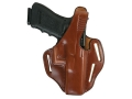 Bianchi 77 Piranha Belt Holster Right Hand Glock 19, 23 Leather Tan