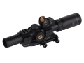 Burris Xtreme Tactical XTR Rifle Scope 30mm Tube 1-4x 24mm Illuminated XTR Ballistic 5.56 Gen2 Reticle with Attached Fastfire III Red Dot Sight and AR-P.E.P.R. 1-Piece Extended Scope Mount  Matte