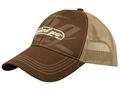 Natural Gear Mesh Back Graphic Logo Cap Polyester Brown