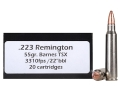 Doubletap Ammunition 223 Remington 55 Grain Barnes Triple-Shock X Bullet Hollow Point Lead-Free Box of 20
