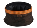 Product detail of Mud River Quick Quack Collapsible Dog Food and Water Bowl Nylon Green and Orange