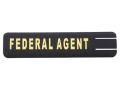ERGO Full Profile Federal Agent Rail Cover Set of 2 Polymer Black
