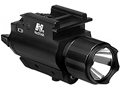 NcStar Tactical Flashlight White LED with Green Laser and Integral Quick Release Weaver Mount Black