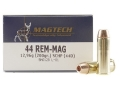 Magtech Hunting Ammunition 44 Remington Magnum 200 Grain Solid Copper Hollow Point Lead-Free Box of 20