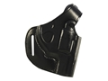 "Bianchi 75 Venom Belt Holster Right Hand S&W J-Frame 2"" Barrel Leather Black"