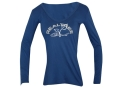 Realtree Girl Women&#39;s Spruce V-Neck T-Shirt Long Sleeve Cotton Blue Large 36-38