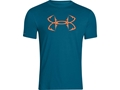 Under Armour Men's UA Hook Logo T-Shirt Short Sleeve Cotton and Polyester Blend Sapphire Lake XL 46-48