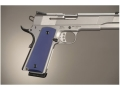 Hogue Extreme Series Grips 1911 Government, Commander Ambidextrous Safety Cut Aluminum Matte Blue