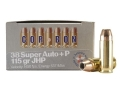 Product detail of Cor-Bon Self-Defense Ammunition 38 Super +P 115 Grain Jacketed Hollow Point Box of 20