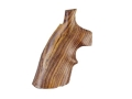 Hogue Fancy Hardwood Grips with Top Finger Groove Colt Python