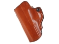 DeSantis Mini Scabbard Outside the Waistband Holster Left Hand Glock 17, 22, 31 Leather Tan