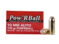 Glaser Pow&#39;RBall Ammunition 10mm Auto 135 Grain Box of 20