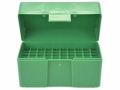 Product detail of RCBS Flip-Top Ammo Box 17 Remington, 222 Remington, 223 Remington 50-Round Plastic Green