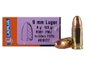 Lapua Ammunition 9mm Luger 123 Grain Full Metal Jacket Box of 50