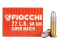 Fiocchi Exacta Pistol Super Match Ammunition 22 Long Rifle 40 Grain Lead Round Nose Box of 500 (10 Boxes of 50)