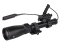 "Laser Genetics ND3X40 18 mW Green Laser Designator with Pressure Switch, 1"" Scope Mount, 3/8"" Dovetail Ring and Binocular Mount Matte"