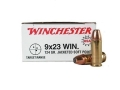 Winchester USA Ammunition 9x23mm Winchester 124 Grain Jacketed Flat Nose