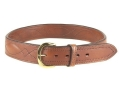 "Bianchi B21 Contour Belt 1-3/4"" Brass Buckle Leather Tan 34"""
