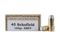 Product detail of Ten-X Cowboy Ammunition 45 S&amp;W Schofield 165 Grain Hollow Base Flat Point Box of 50