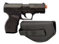 Crosman Stinger P9T Airsoft Pistol Polymer Black with Black Nylon Hip Holster