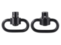 "ProMag Heavy Duty Push Button Quick Detach Sling Swivel Set 1-1/4"" Steel Black"