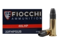 Fiocchi Shooting Dynamics Ammunition 22 Long Rifle Subsonic 40 Grain Hollow Point Box of 500 (10 Boxes of 50)