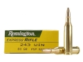Product detail of Remington Express Ammunition 243 Winchester 80 Grain Pointed Soft Point Box of 20