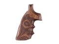 Hogue Fancy Hardwood Grips with Finger Grooves S&W N-Frame Round Butt Checkered Rosewood Laminate
